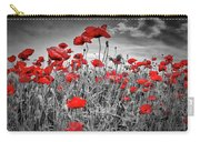 Idyllic Field Of Poppies Colorkey Carry-all Pouch
