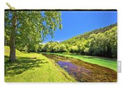 Idyllic Krka River In Knin Landscape Carry-all Pouch