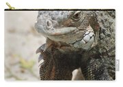 Iguana On A White Sand Beach Up Close Carry-all Pouch