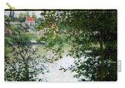 Ile De La Grande Jatte Through The Trees Carry-all Pouch by Claude Monet