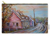 Iles D'orleans Quebec Village Scene Carry-all Pouch