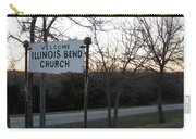 Illinois Bend Church Sign Carry-all Pouch