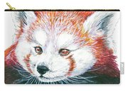 Illlustration Of Red Panda On Branch Drawn With Faber Castell Pi Carry-all Pouch
