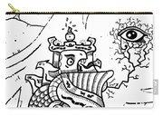 Surrealism Illuminati Black And White Carry-all Pouch