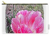 Illustrated Rose Vignette Carry-all Pouch