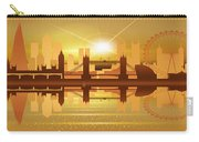 Illustration Of City Skyline - London  Sunset Panorama Carry-all Pouch