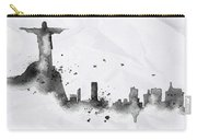Illustration Of City Skyline - Rio De Janeiro In Chinese Ink Carry-all Pouch