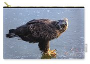 Immature Eagle Having Lunch Carry-all Pouch