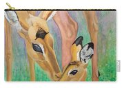 Impala Doe And Fawn Carry-all Pouch