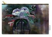 Impatient Painterly Floral Carry-all Pouch