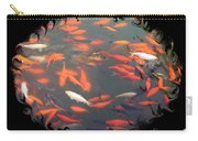 Imperial Koi Pond With Black Swirling Frame Carry-all Pouch