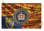 Imperial Tudor Crown Over Royal Standard Of The United Kingdom Carry-all Pouch