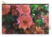 Bronze And Pink Mums Carry-all Pouch