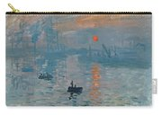 Impression Sunrise Carry-all Pouch by Claude Monet