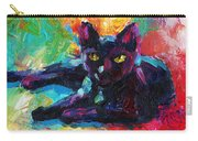 Impressionistic Black Cat Painting 2 Carry-all Pouch