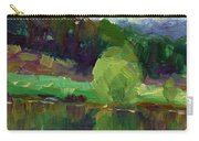 Impressionistic Oil Landscape Lake Painting Carry-all Pouch