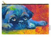 impressionistic Pug painting Carry-all Pouch by Svetlana Novikova