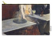 In A Cafe Carry-all Pouch by Edgar Degas