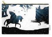 In A Dream, Unicorn, Pegasus And Castle Modern Minimalist Style Carry-all Pouch
