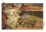 In A Rose Garden Carry-all Pouch by Sir Lawrence Alma-Tadema