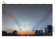 In Austin Streams Of Mexican Freetailed Bats The Worlds Largest Urban Bat Colony Take To The Skies During Sunset Carry-all Pouch