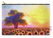 In Awe Of Sunflowers, Sunset Fields Carry-all Pouch