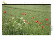 in Flanders Fields the  poppies blow Carry-all Pouch