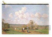 In The Fields Carry-all Pouch by Camille Pissarro
