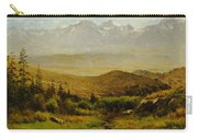In The Foothills Of The Rockies Carry-all Pouch by Albert Bierstadt