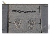 In The Footsteps Of Rocky Carry-all Pouch by Bill Cannon
