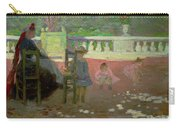 In The Luxembourg Gardens  Carry-all Pouch by Henri Edmond Cross