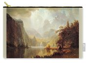 In The Mountains Albert Bierstadt Carry-all Pouch