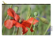 In The Poppy Garden Carry-all Pouch by Barbara St Jean