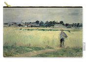 In The Wheatfield At Gennevilliers Carry-all Pouch by Berthe Morisot