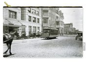 In This 1913 Photo, A Cable Car Drives Past The Littlefield Building And Dristill Hotel On Sixth Str Carry-all Pouch
