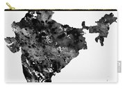 Map Of India-black Carry-all Pouch