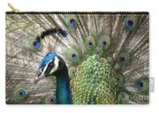 Indian Blue Peacock Puohokamoa Carry-all Pouch