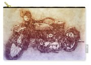 Indian Chief 2 - 1922 - Vintage Motorcycle Poster - Automotive Art Carry-all Pouch