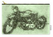 Indian Chief 3 - 1922 - Vintage Motorcycle Poster - Automotive Art Carry-all Pouch