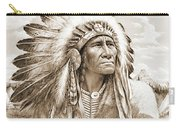 Indian Chief With Headdress Carry-all Pouch