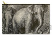 Indian Elephant, Endangered Species Carry-all Pouch