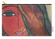 Indian Girl With Nose Ring Carry-all Pouch