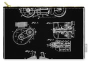 Indian Motorcycle Patent 1943 Black Carry-all Pouch