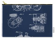 Indian Motorcycle Patent 1943 Blue Carry-all Pouch
