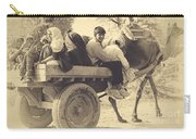 Indian People In Camel Cart- Sepia Carry-all Pouch