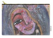 Indian Rajasthani Woman With Colorful Background  Carry-all Pouch