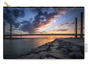 Indian River Inlet And Bay Sunset Carry-all Pouch