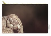 Indian Silver Elephant Carry-all Pouch
