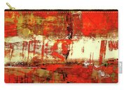 Indian Summer - Red Contemporary Abstract Carry-all Pouch