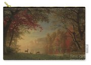Indian Sunset Deer By A Lake Carry-all Pouch